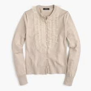 J. Crew Jackie Cardigan Sweater with Tulle